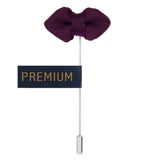 Mini Bow - Purple Brooch Lapel Pin