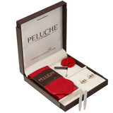 Pretty Piano Keys Gift Box Includes 1 Neck Tie, 1 Brooch, 1 Pair of Cufflinks and 1 Pair of Collar Stays for Men | Genuine Branded Product from Peluche.in