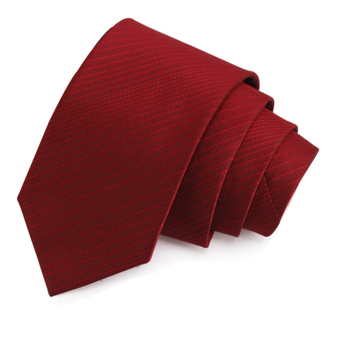 Trim Red Colored Microfiber Necktie for Men | Genuine Branded Product from Peluche.in