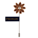 Glowing Petals - Brown Brooch Lapel Pin