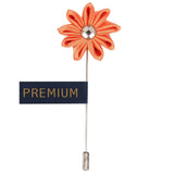 Glowing Petals - Orange Brooch Lapel Pin