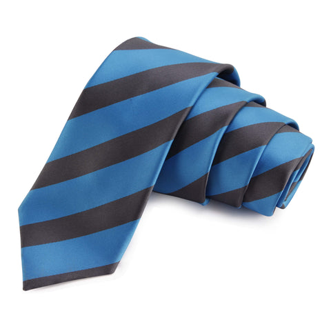 Elegant Blue Colored Microfiber Necktie for Men | Genuine Branded Product from Peluche.in