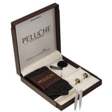 Clicking Camera Roll Gift Box Includes 1 Neck Tie, 1 Brooch, 1 Pair of Cufflinks and 1 Pair of Collar Stays for Men | Genuine Branded Product from Peluche.in