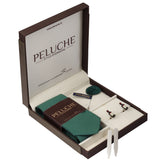 Intoxicating Wine Bottle Gift Box Includes 1 Neck Tie, 1 Brooch, 1 Pair of Cufflinks and 1 Pair of Collar Stays for Men | Genuine Branded Product from Peluche.in