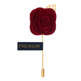 The Prince Charming - Maroon Brooch Lapel Pin