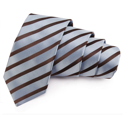 Spanking Grey Colored Microfiber Necktie for Men | Genuine Branded Product from Peluche.in