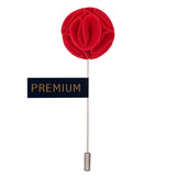 The Dahlia Flower - Red Brooch Lapel Pin