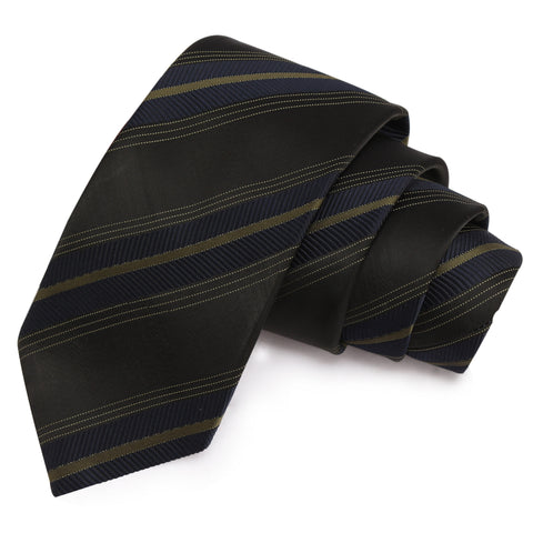 Splendid Black Colored Microfiber Necktie for Men | Genuine Branded Product from Peluche.in