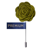 Blooming Charm Green Colored Brooch / Lapel Pin for Men | Genuine Branded Product from Peluche.in