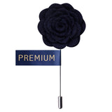 Blooming Charm Navy Blue Colored Brooch / Lapel Pin for Men | Genuine Branded Product from Peluche.in