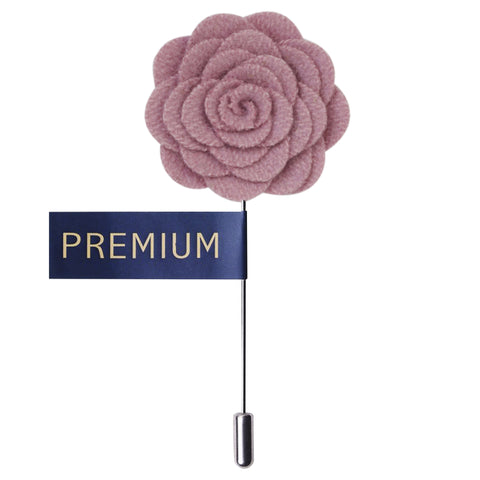 Blooming Charm Light Pink Colored Brooch / Lapel Pin for Men | Genuine Branded Product from Peluche.in