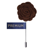 Blooming Charm Dark Brown Colored Brooch / Lapel Pin for Men | Genuine Branded Product from Peluche.in