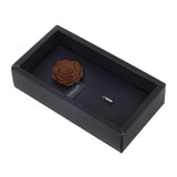 Blooming Charm Dark Brown Colored Brooch for Men