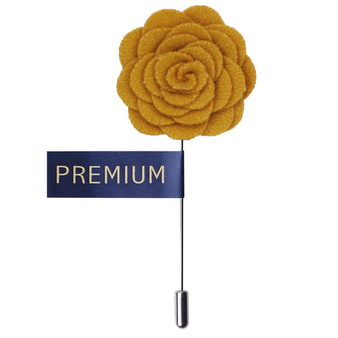 Blooming Charm Yellow Colored Brooch / Lapel Pin for Men | Genuine Branded Product from Peluche.in