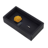 Blooming Charm Yellow Colored Brooch for Men