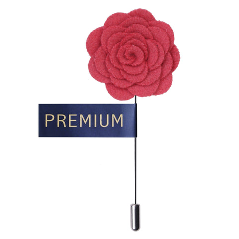 Blooming Charm Coral Colored Brooch / Lapel Pin for Men | Genuine Branded Product from Peluche.in