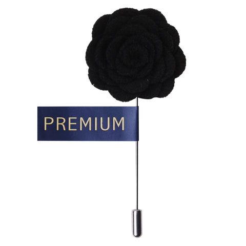 Blooming Charm Black Colored Brooch / Lapel Pin for Men | Genuine Branded Product from Peluche.in