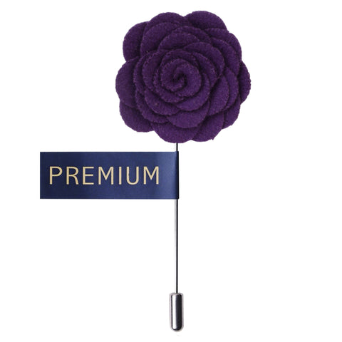 Blooming Charm Purple Colored Brooch / Lapel Pin for Men | Genuine Branded Product from Peluche.in