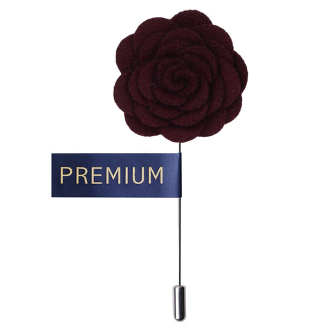 Blooming Charm Wine Colored Brooch / Lapel Pin for Men | Genuine Branded Product from Peluche.in