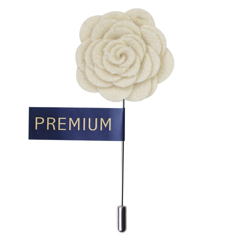 Blooming Charm Cream Colored Brooch / Lapel Pin for Men | Genuine Branded Product from Peluche.in