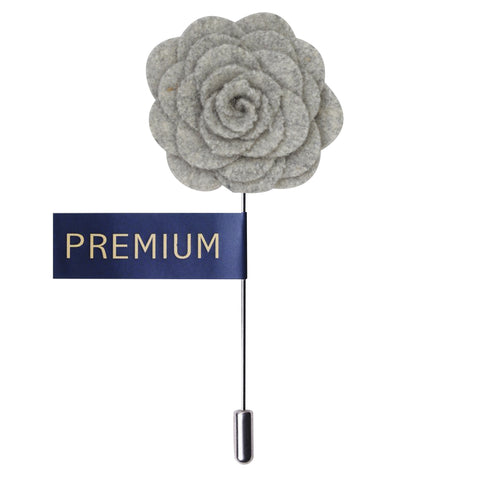 Blooming Charm Light Grey Colored Brooch / Lapel Pin for Men | Genuine Branded Product from Peluche.in