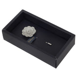 Blooming Charm Light Grey Colored Brooch for Men