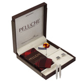 Classic Gift Box Includes 1 Neck Tie, 1 Brooch, 1 Pair of Cufflinks and 1 Pair of Collar Stays for Men | Genuine Branded Product from Peluche.in