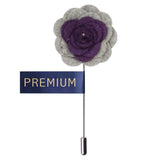 Graceful Bloom Purple & Light Grey Colored Brooch / Lapel Pin for Men | Genuine Branded Product from Peluche.in