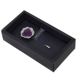 Graceful Bloom Purple and Light Grey Colored Brooch for Men