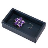 Floral Grace Purple and Silver Colored Lapel Pin for Men