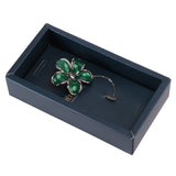Floral Grace Green and Silver Colored Lapel Pin for Men
