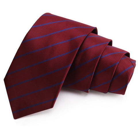 Fab Maroon Colored Microfiber Necktie for Men | Genuine Branded Product from Peluche.in
