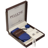 Flattering Gift Box Includes 1 Neck Tie, 1 Brooch, 1 Pair of Cufflinks and 1 Pair of Collar Stays for Men | Genuine Branded Product from Peluche.in