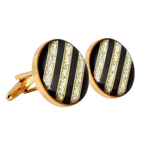 Peluche Bigger the Better - Gold Cufflinks Brass