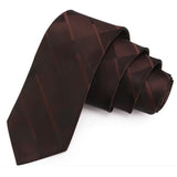 Geometrical Brown Colored Microfiber Necktie for Men | Genuine Branded Product from Peluche.in