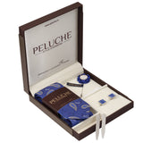Charming Gift Box Includes 1 Neck Tie, 1 Brooch, 1 Pair of Cufflinks and 1 Pair of Collar Stays for Men | Genuine Branded Product from Peluche.in