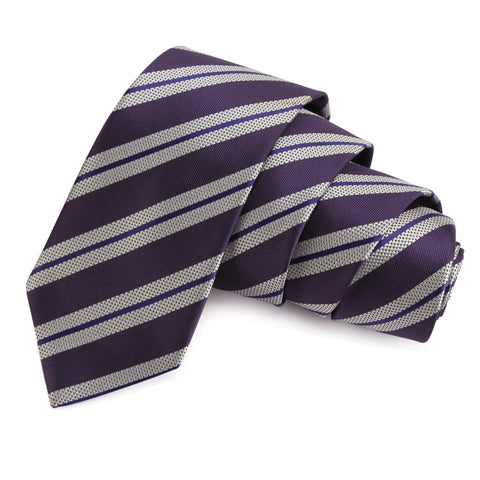 Clean Cut Purple Colored Microfiber Necktie for Men | Genuine Branded Product from Peluche.in