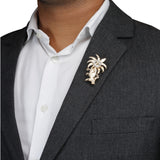 Felpa Smart Golden Colored Lapel Pin for Men