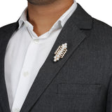 Felpa Swell Golden and White Colored Lapel Pin for Men