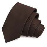 Eye Catching Brown Colored Microfiber Necktie for Men | Genuine Branded Product from Peluche.in