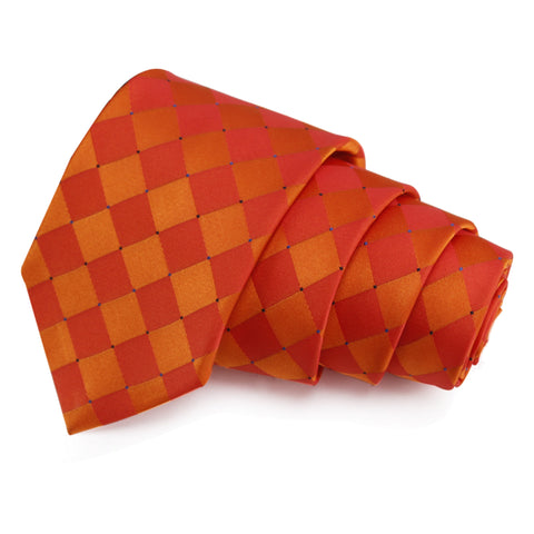 Dual Shade Orange Colored Microfiber Necktie for Men | Genuine Branded Product from Peluche.in