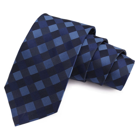 Groovy Blue Colored Microfiber Necktie for Men | Genuine Branded Product from Peluche.in