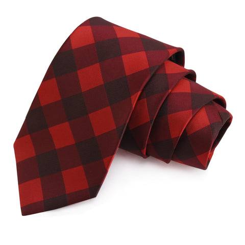 Trendsetting Red Colored Microfiber Necktie for Men | Genuine Branded Product from Peluche.in