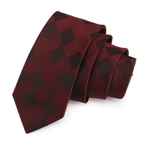 Nobby Maroon Colored Microfiber Necktie for Men