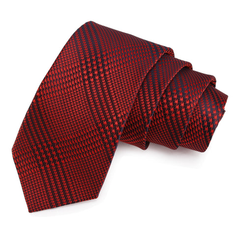 Charismatic Red Colored Microfiber Necktie for Men | Genuine Branded Product from Peluche.in