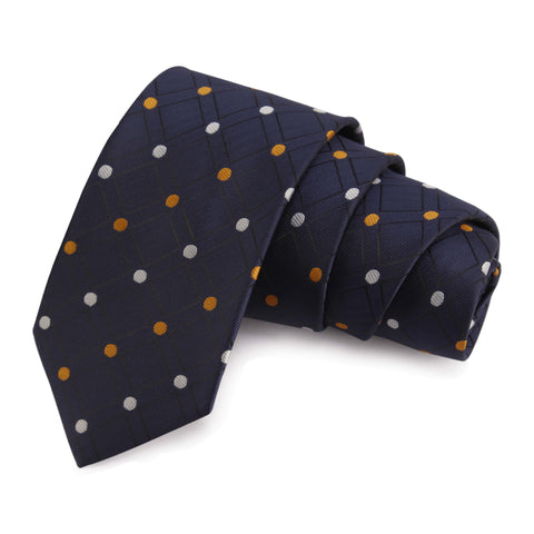 Dotted Blue Colored Microfiber Necktie for Men | Genuine Branded Product from Peluche.in