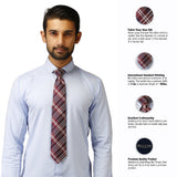 Neat Microfiber Necktie for Men