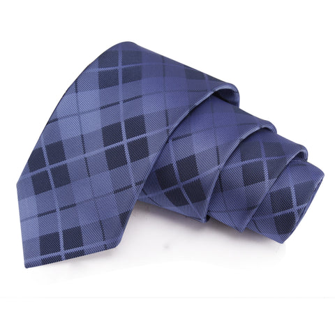 Engaging Blue Colored Microfiber Necktie for Men | Genuine Branded Product from Peluche.in