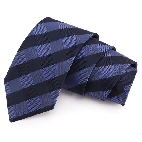 Spiffy Blue Colored Microfiber Necktie for Men | Genuine Branded Product from Peluche.in