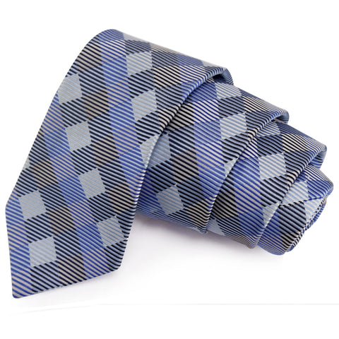 Intriguing Blue Colored Microfiber Necktie for Men | Genuine Branded Product from Peluche.in